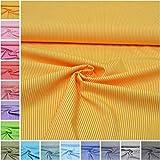 MAGAM-Stoffe ''Amelie'' Streifen in 16 Farben | 100% Baumwolle Öko-TEX Qualität | Meterware ab 50cm | FX (01. Gelb)