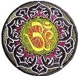 Iron on Auf-Bügel-Aufnäher-Patches-Flicken-Applikation-Aufkleber Aufbügler Bügelbilder Jacken Kleidung Stoff Hippie Om 8 cm