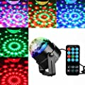 KINGSO Mini Disco DJ Stage Lights 3W LED RGB Sound Actived Crystal Magic Rotating Ball Lights Effect For KTV Xmas Party Wedding Show Club Pub Color Changing Lighting