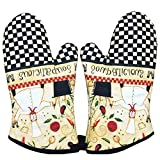 1 Pair Oven Gloves Non-Slip Kitchen Oven Mitts Heat Resistant Cooking Gloves,m