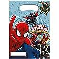 Procos- Marvel 85156 – Lot de 6 sachets de fête Spiderman Web Warriors pour Anniversaire d'enfant, 10108532, Multicolore, Cos
