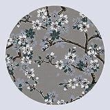 XIAOLIN Teppiche Teppiche Bereich New China Teppich rund Blumen Schließen Dicke Super Weiche Teppich, a, 120 cm
