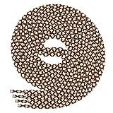 Di Ficchiano runde SCHNÜRSENKEL für Arbeitsschuhe und Trekkingschuhe - sehr reißfest - ø ca. 4,5 mm, Polyester - SP-01.1-brown/beige-170