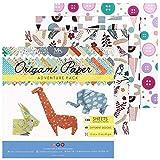 MozArt Supplies Paquete de papel para origami Adventure - 120 hojas - Papel japonés...