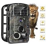 LESHP Cámara de Caza Exteriores 12MP 1080P HD Lapso de Tiempo 20m 120° Ángulo Amplio  Visión Nocturna con 42 IR LEDS 2.4' LCD