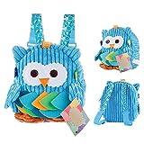 Babyrucksack BWei kinderrucksack junge kindergarten Blau Backpack Schultasche für 1-7Jahre Mädchen,für Schule,eule auswahlbar
