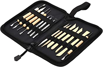 LQZ 14 Pieces All-in-one Ceramic Clay Pottery Sculpting Carving Tool Set