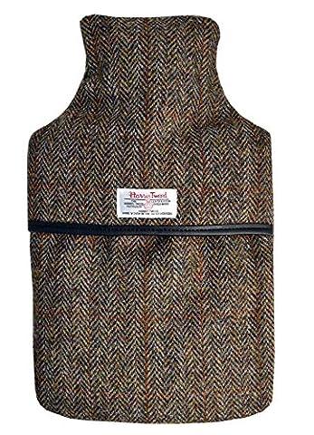 100% reine Wolle kariert HARRIS TWEED Luxus 2L Wärmflasche mit gepolsterte Bezug (in Geschenkverpackung)