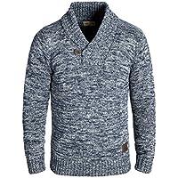 Solid Phil Jersey De Punto Suéter Sudadera De Punto Grueso Para Hombre Con Cuello Esmoquin De 100% algodón