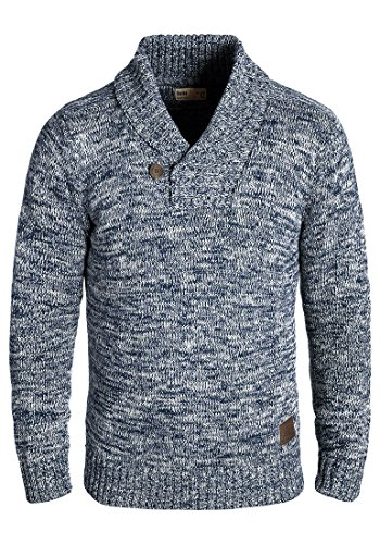 SOLID Phil - Pull en Maille- Homme Insignia Blue (1991)