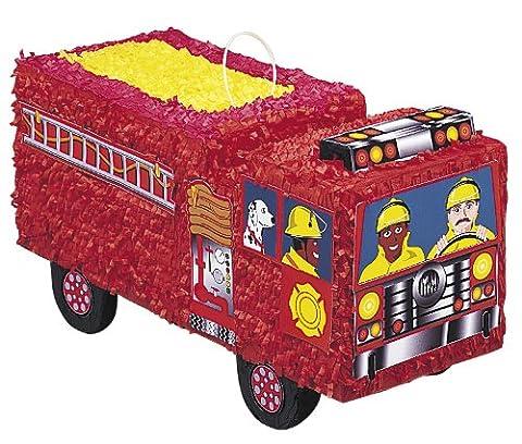 Pinata Feuerwehrauto Einsatzwagen LKW rot für Geburtstagsparty