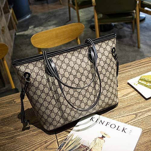 LFGCL Bags womenPrint Bag Umhängetasche mit großem Fassungsvermögen urban Casual Handbag, Black