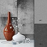 NEWROOM Steintapete Grau Papiertapete Kacheln schöne moderne und edle Design 3D Optik , inklusive Tapezier Ratgeber