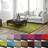 casa pura Shaggy Teppich Barcelona | weicher Hochflor Teppich für Wohnzimmer, Schlafzimmer, Kinderzimmer | GUT-Siegel + Blauer Engel Größen | 100x150 cm | Grün