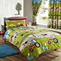 Kids Club Farmyard Design Duvet Cover Bedding Set (Single, Double) - low-cost UK light shop.