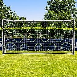 Net World Sports Mur de Tir pour des Buts de Foot | Équipement d'Entraînement de Football (2,4m x 1,2m)