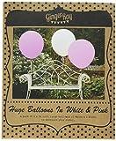 Ginger Ray Hochzeit Geburtstag XXL Ø 90cm 36 Zoll Luftballon 3 Stck. weiß/rosa