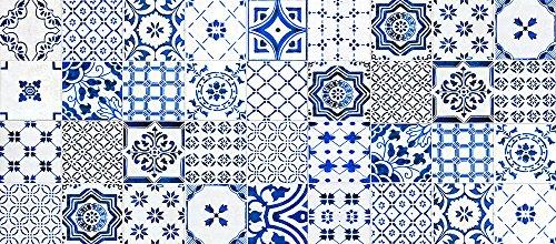 VINILIKO, Alfombra de vinilo, Lisboa, Azul, 66x150 cm