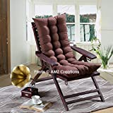 #3: AMZ Premium Microfibre Soft Home Seat Cushion Long Chair Pad Cushion for Indoor/Outdoor Home Office Garden Decor (Brown,48 x 18 Inches,Set of 1)