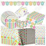 Baby Shower Easy Party Pack - Pastel Baby Tableware & Decorations! (24 Guest)