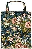 robuste Canvas-Einkaufstaschen Tasche Beutel Bag Jute Stoff Shopper Henkel Trage Einkäufe Blumen