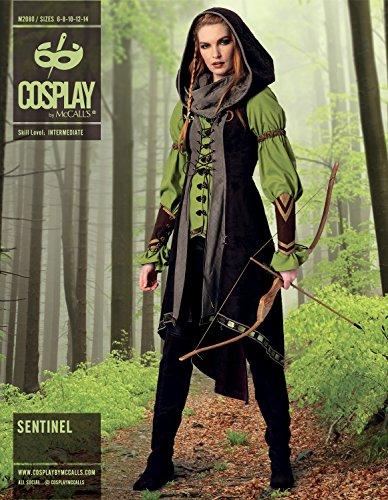 Cosplay von McCall 's Sentinel Tunika/Weste/Kapuze Und Armschienen, mehrfarbig, Größen (Costumes Mccall's)