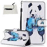 TOCASO Schutzhülle für Huawei Honor 7 Hülle Flip Cover Case Wallet BriefTasche hülle Lanyard Handyhülle Schutz Hülle Shell Klapphülle Rückseite Stand und Karte Halter Magnet -Boxen Panda