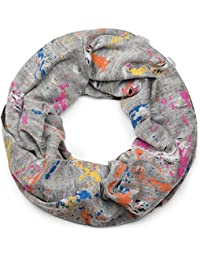 513191dcbc33 styleBREAKER écharpe ronde avec motif tâche de couleur, style vintage effet  usé, écharpe,