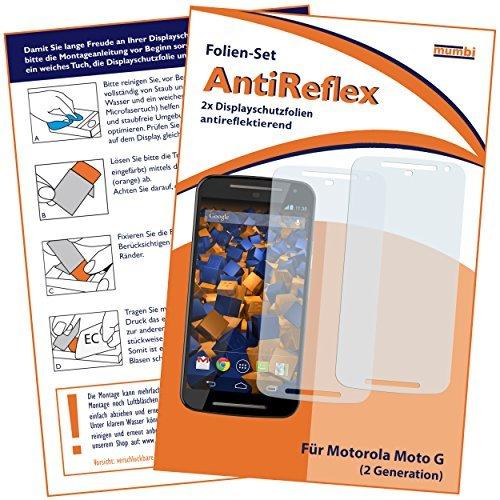 mumbi Schutzfolie kompatibel mit Motorola Moto G 2. Generation Folie matt, Bildschirmschutzfolie (2x)