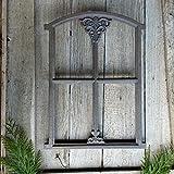 Antikas - Stallfenster, Bauernfenster für Gartenlaube, Eisenfenster Gartenmauer ca. 46 x 31cm