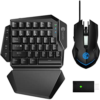 GameSir VX AimSwitch E-Sport Tastatur und Maus Combo Adapter für Xbox One, PS4, PS3, Switch, Windows PC, Ergonomische Wireless Gaming Tastatur mit Maus für Konsolenspiele