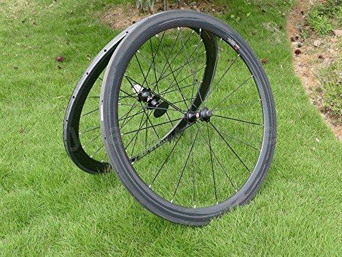 Full Carbon 3K Matt Rennrad Tubular Felge 50mm Basalt Bremse Seite Breite 25mm Toray Carbon Laufradsatz für Campagnolo -