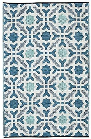 Fab Hab - Seville - Multicolore - Bleu Intérieur Extérieur/tapis (120cm x 180cm)
