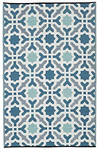 Fab Hab - Seville - Alfombra para Exterior e Interior - Multicolor - A