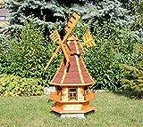 Dekorative Windmühle mit Solar rot Typ 4
