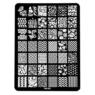 Ularma DIY Nail Art Image Stamp Plates Manicure Template (D)