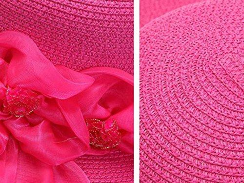 Mme de plein air Printemps et été Crème solaire Grandes corniches chapeau de soleil Anti-UV Sandales de plage chapeau de soleil ( couleur : 1 ) 3