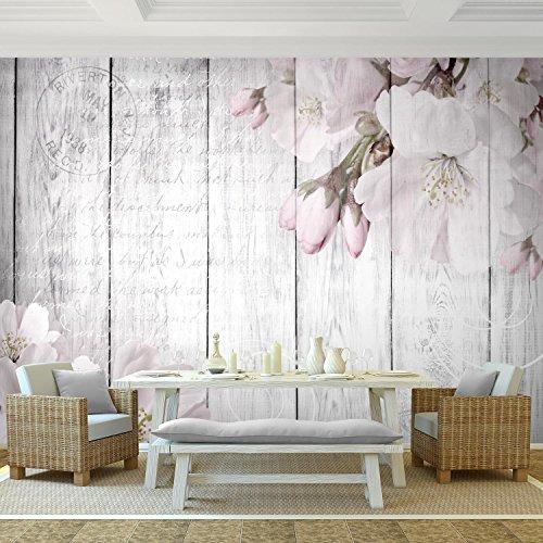 Fototapete Blumen Grau 396 x 280 cm Vlies Wand Tapete Wohnzimmer  Schlafzimmer Büro Flur Dekoration Wandbilder XXL Moderne Wanddeko Flower  100% MADE IN ...