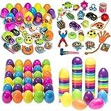 MJS 50 Huevos de pascua brillante de plástico Surtido de artículos con color de fiesta para la...