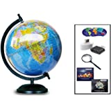 GUCHOO™ Globe|Globes Educational Political Laminated 8 inch for Students/Kids/ Office Table/ Home Decor /World Globe…