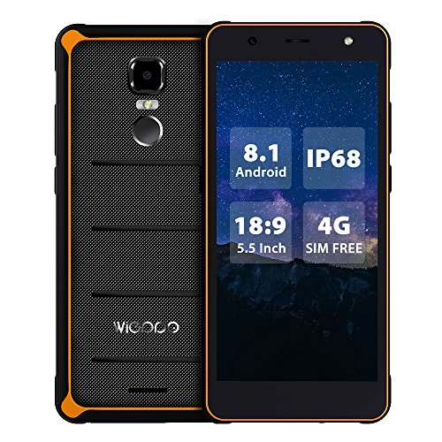 E1 Pantalla de 5.5 Pulgadas Telefono Moviles Libres Dual Sim 2GB RAM 16GB ROM Android 8.1 Teléfono 4G Desbloqueado IP68...