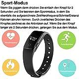 AsiaLONG Fitness Armband mit Pulsmesser – Puls Armband Schrittzähler Fitness Tracker Aktivitätstracker mit Schlafanalyse, Kalorienzähler, Vibrationswecker Anruf SMS Whatsapp Vibration für iOS und Android Handy (Upgrade) - 6