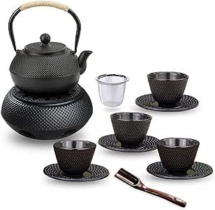 Schramm® Gusseisen Teekanne 900ml emailliert Asiatische Tee Kanne Kannen