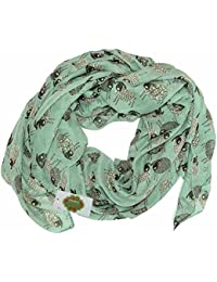 New with Tags Sheep Print Scarf Women Scarves Animal Printed Large Shawl (Sea green)