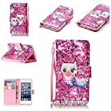 iPod Touch 5 Case , iPod Touch 6 Case, Alkax Premium PU Leather Wallet Kickstand Magnet Flip Folio STAND Protective Cover with Card ID Card Slots for