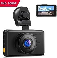 """apeman Dash Cam 1080P FHD DVR Autokamera 3""""LCD-Bildschirm 170 ° Weitwinkel, G-Sensor, WDR, Parkmonitor, Loop-Aufnahme, Bewegungserkennung"""