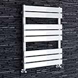 iBathUK | 800 x 600 White Flat Panel Heated Towel Rail Bathroom Radiator - All Sizes