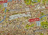 0,5m Dekostoff Landkarte London map 80% Baumwolle 20%