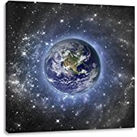 Wandtattoo Wandbild  Wandsticker Kosmos Galaxie Universum Orbit Space Planet 3D