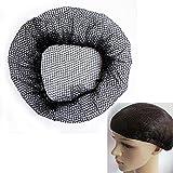 Haarnetz, schwer, latexfrei, elastisch, 50 cm, Schwarz, 10 Stück